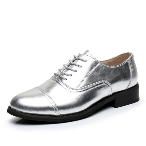 Solid Color Vintage Genuine Leather Oxford Brogues - 4 Colors