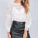 Bellissima Lattice Lace Blouse - Black or White
