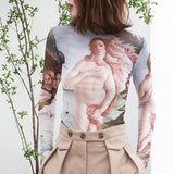 Birth Of Venus Tattoo Tissue Top