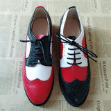 Vintage Mismatch Genuine Leather Oxford Brogues - 8 Styles