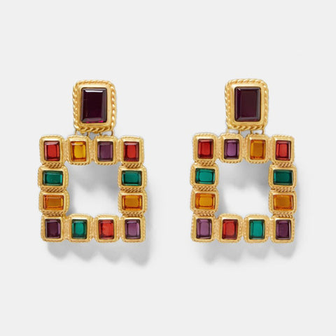 Multicolor Jewel tone Vintage Statement Earrings - 7 Styles - BUY 2 or More to Save!!
