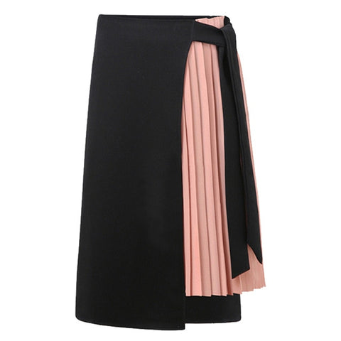 Katarina Asymmetric Pleated Wrap Skirt - 3 Colors
