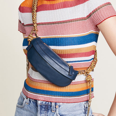 Fanny Bag with Fish Braids Straps - 6 Colors