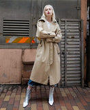 Clara Faux Leather Trench Coat