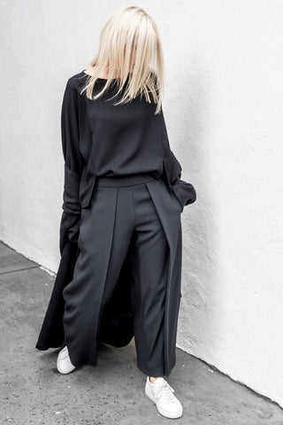 Farah Pleated Front Wide Leg Dress Pants