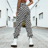 Bessie Chained Checkerboard Utility Cargo Pants