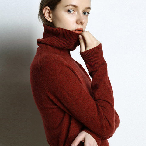 Bella Cashmere Turtleneck Sweater - 5 Colors