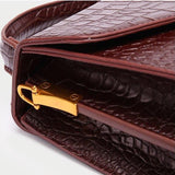 Alligator Effect Faux Leather Bag - 2 Colors