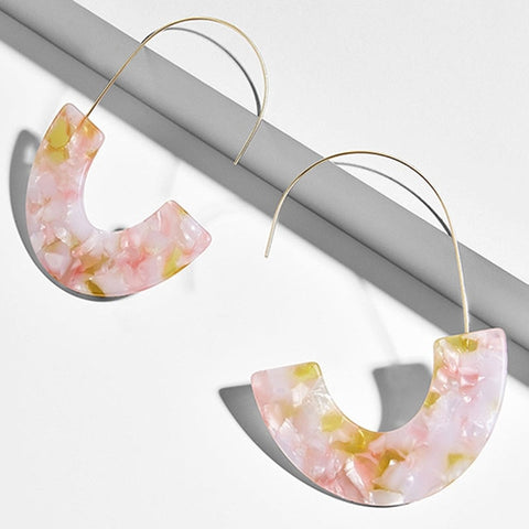 Julia Multi-Color Resin Hoop Earrings - 6 Styles