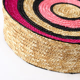 Athena Colorful Circle Straw Bag