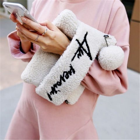 Au Revoir! Statement Faux Fur Clutch - 4 Colors