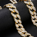 Crystal Chain Choker - Gold or Silver