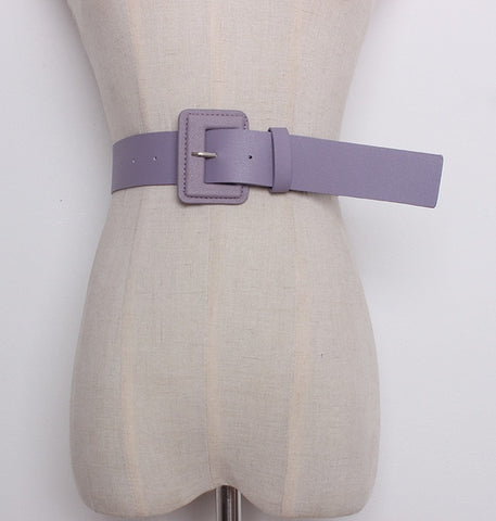 Solid Pastel Candy Color Belt - 7 Colors