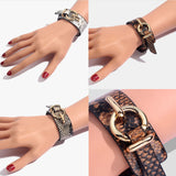 Snakeskin Prints Faux Leather Bracelet - 3 Colors