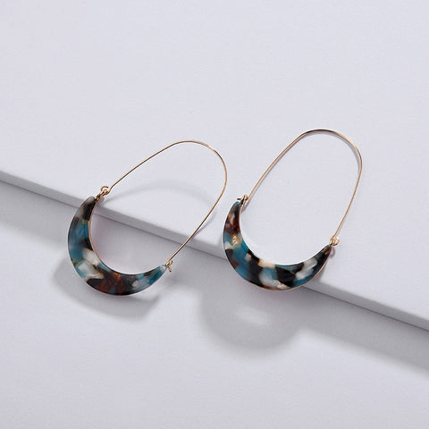 Lucia Resin Hoop Earrings - 3 Colors