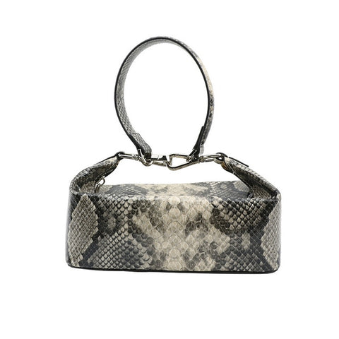 Emma Snakeskin Pattern Box Totes - 2 Colors