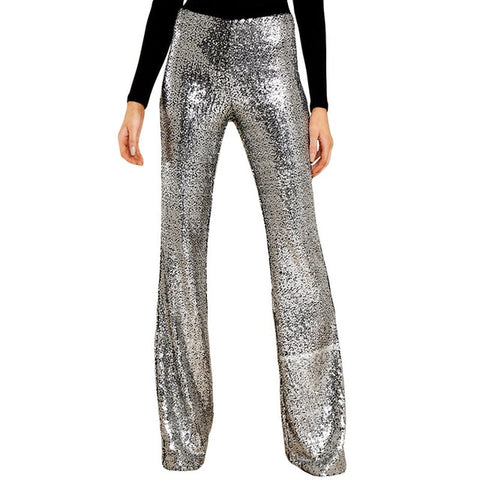 Edina Disco Sequin Flare Pants - 2 Colors