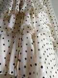 Georgiana Polka Dots Tiered Maxi Chiffon Dress