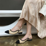 Charlotte Cap Toe Sling Back Sandals - 3 Colors