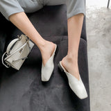Devora Origami Fold Minimalist Leather Slippers - 2 Colors