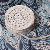 Indah Balinese Pattern Pickle Wash Rattan Bag