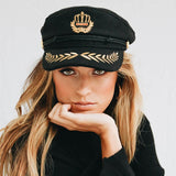 Tanya Embroidery Captain Hat
