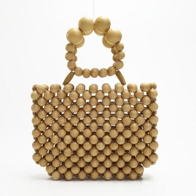 Maia Wooden Beads Mini Tote