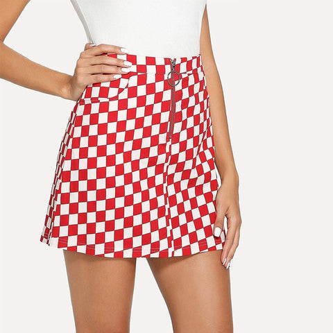 Josephine Checkerboard Mini Skirt - 3 Colors