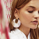Serena Vintage Acrylic Resin Disk Earrings - 5 Colors