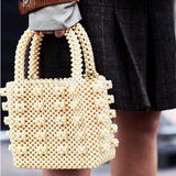 Luxe Pearl Beads Mini Tote - 3 Colors