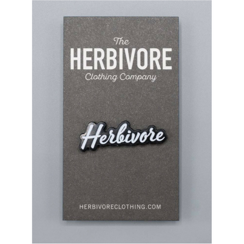 Herbivore Scripty Enamel Pin - The Grinning Goat