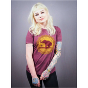 Good Luck Elephant Maroon Unisex Tee - The Grinning Goat