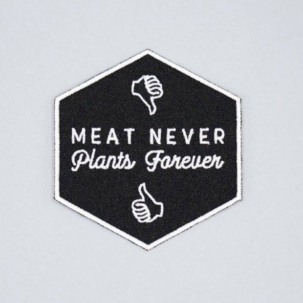 Meat Never, Plants Forever Iron-On Patch - The Grinning Goat