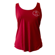 Calgary Vegan Ladies Racerback Tank Red - The Grinning Goat