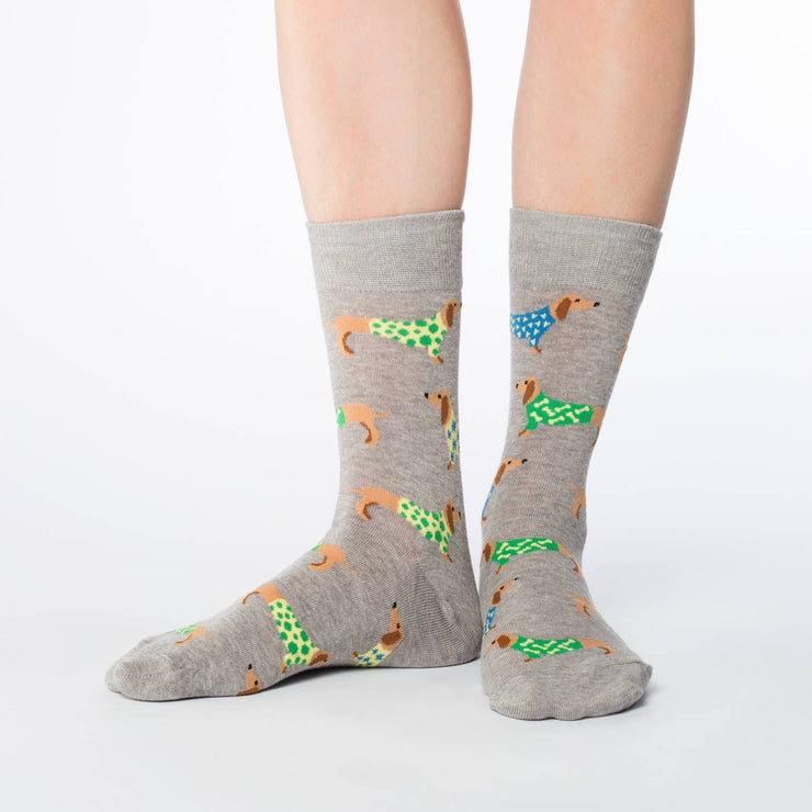 Wiener Dog Crew Socks - Women's 5-9