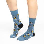 Bees Crew Socks - Women's 5-9