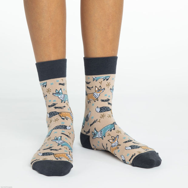 Fox Crew Socks - Women's 5-9 - The Grinning Goat