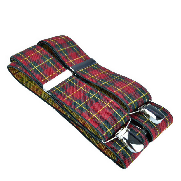 McGuinty Suspenders - Red Plaid - The Grinning Goat