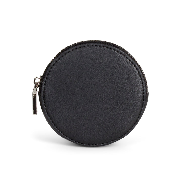 Rock & Chain Coin Purse - Black - The Grinning Goat