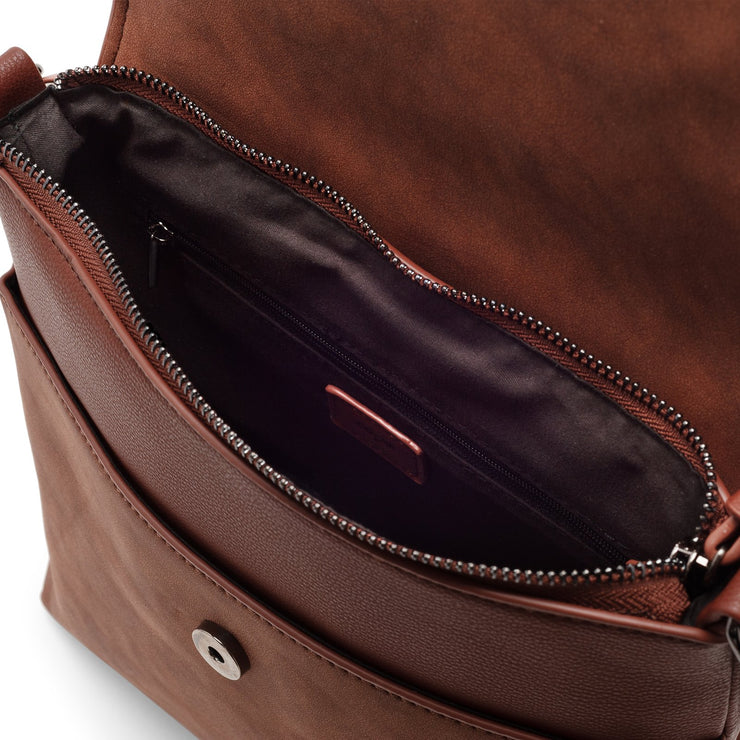 Crossbody with Flap - Cocoa