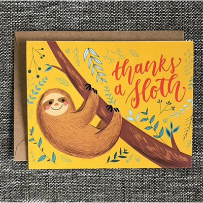 Thanks a Sloth Card - The Grinning Goat