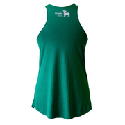Calgary Vegan Ladies Racerback Tank Emerald - The Grinning Goat