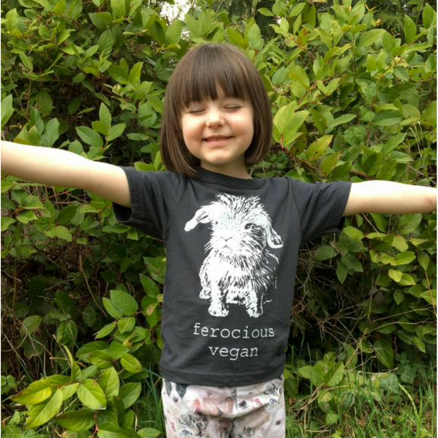 Ferocious Vegan Kids Tee - The Grinning Goat