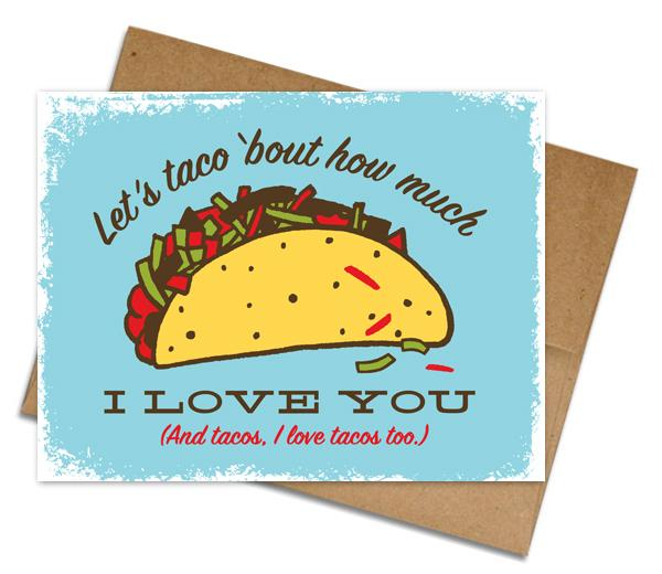 Taco Love Card - The Grinning Goat