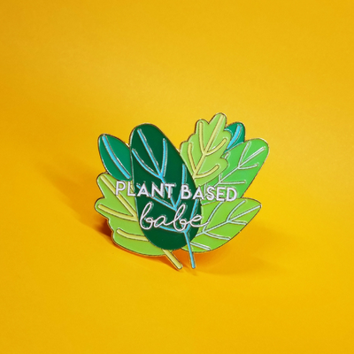 Plant Based Babe Pin - The Grinning Goat