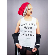 Eat Like You Give a Damn Women's Muscle Tank - The Grinning Goat