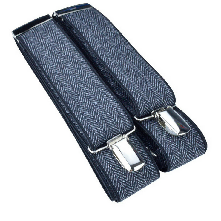 McGuinty Suspenders - Black Herringbone - The Grinning Goat