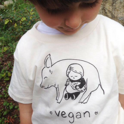 Vegan Snuggle Kids Tee - The Grinning Goat