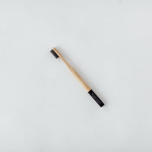 Charcoal Bamboo Toothbrush - Adult Soft - The Grinning Goat