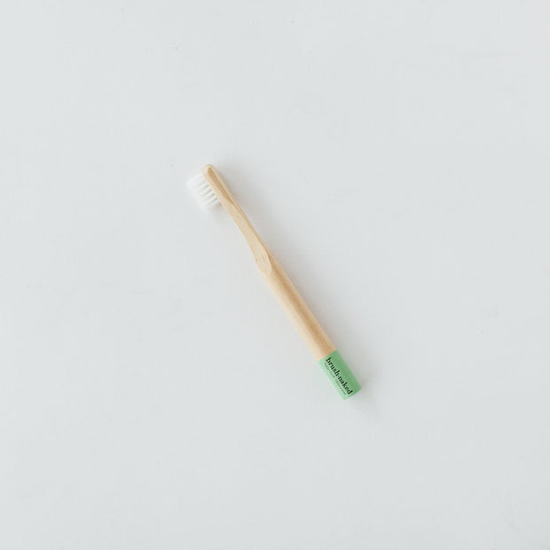 Bamboo Toothbrush - Kids Soft - Green - The Grinning Goat
